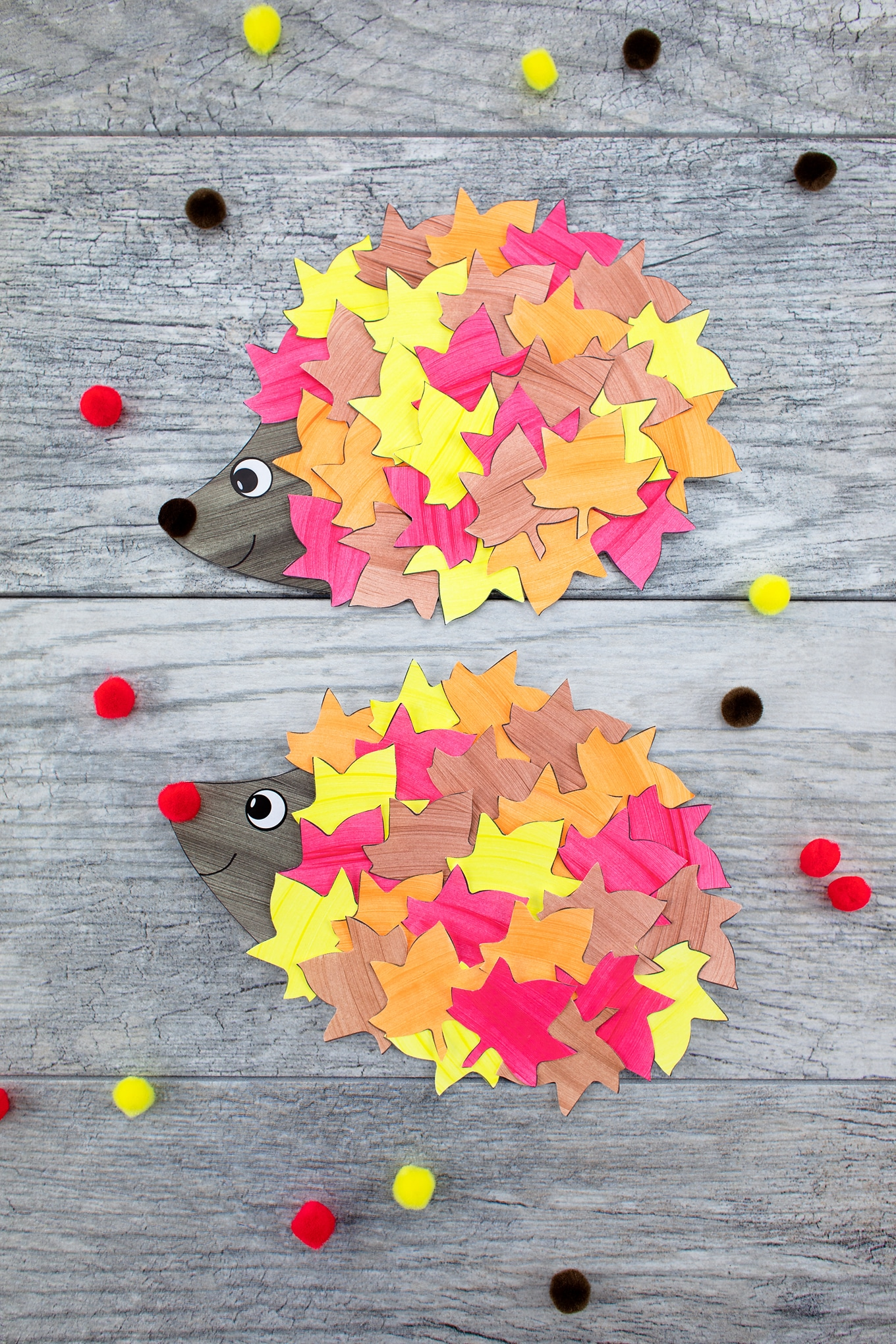 How to Make a Paper Leaf Hedgehog Craft