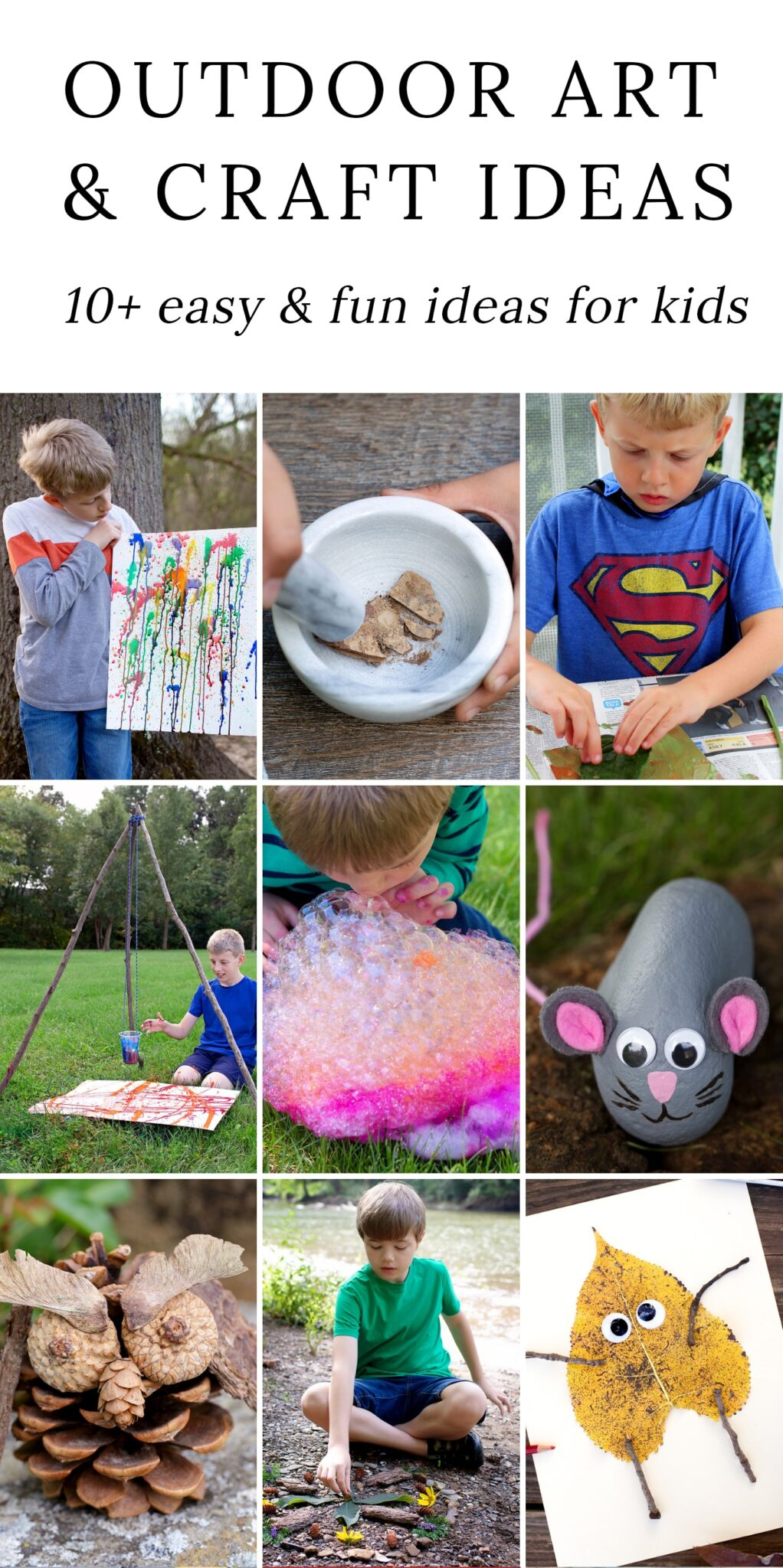 Help them create a mosaic masterpiece. Fun Outdoor Arts And Crafts Ideas For Kids Fireflies And Mud Pies