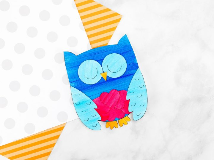 Owl Valentine with Owl Template