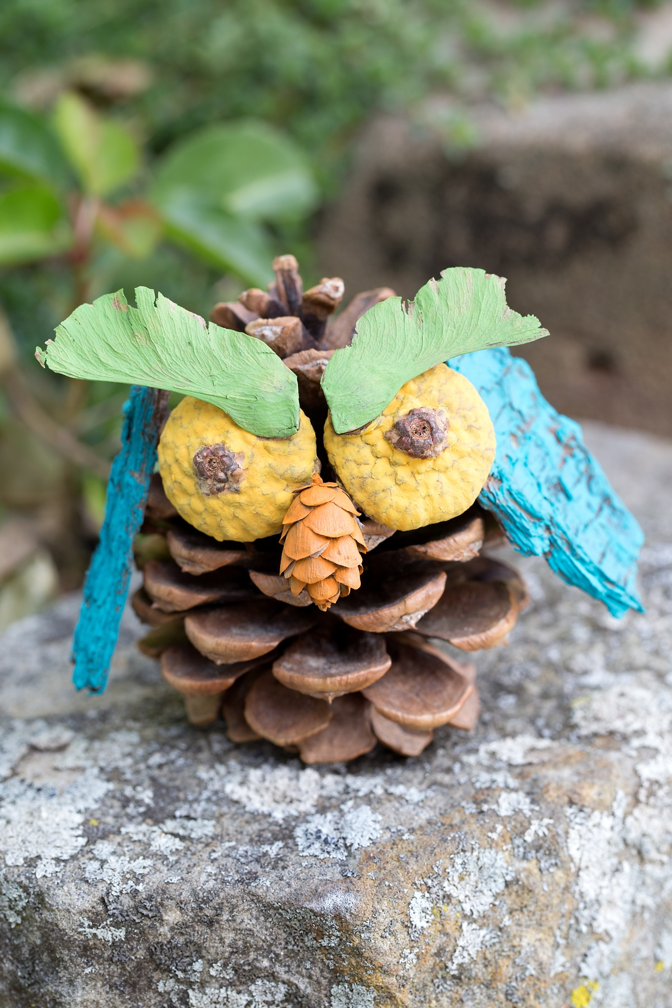 Painted Pine Cone Owl Craft
