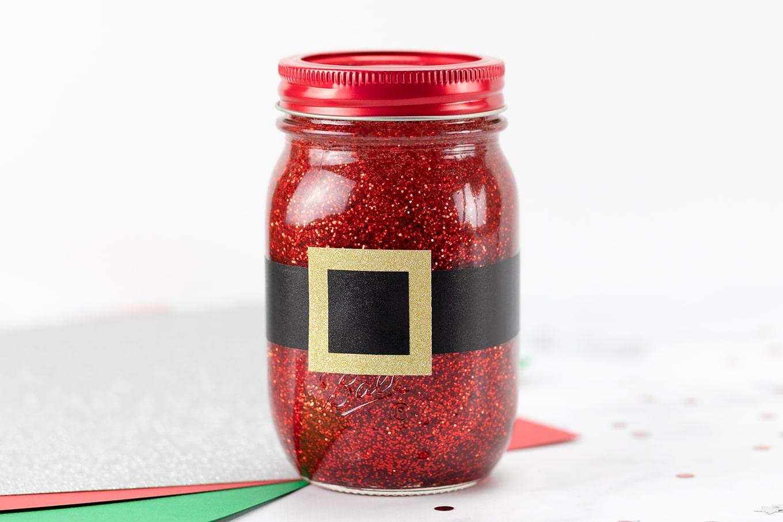 Santa Glitter Jar