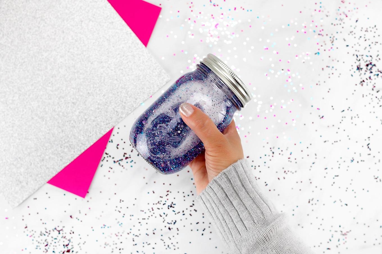 Shaking a Glitter Jar