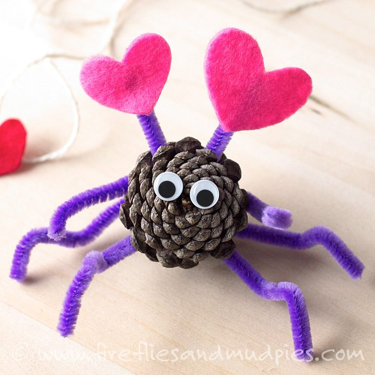 Pine Cone Love Bug Craft | Fireflies and Mud Pies