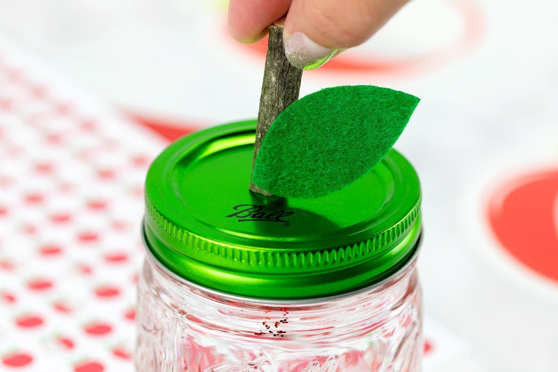 Stem on Apple Glitter Jar