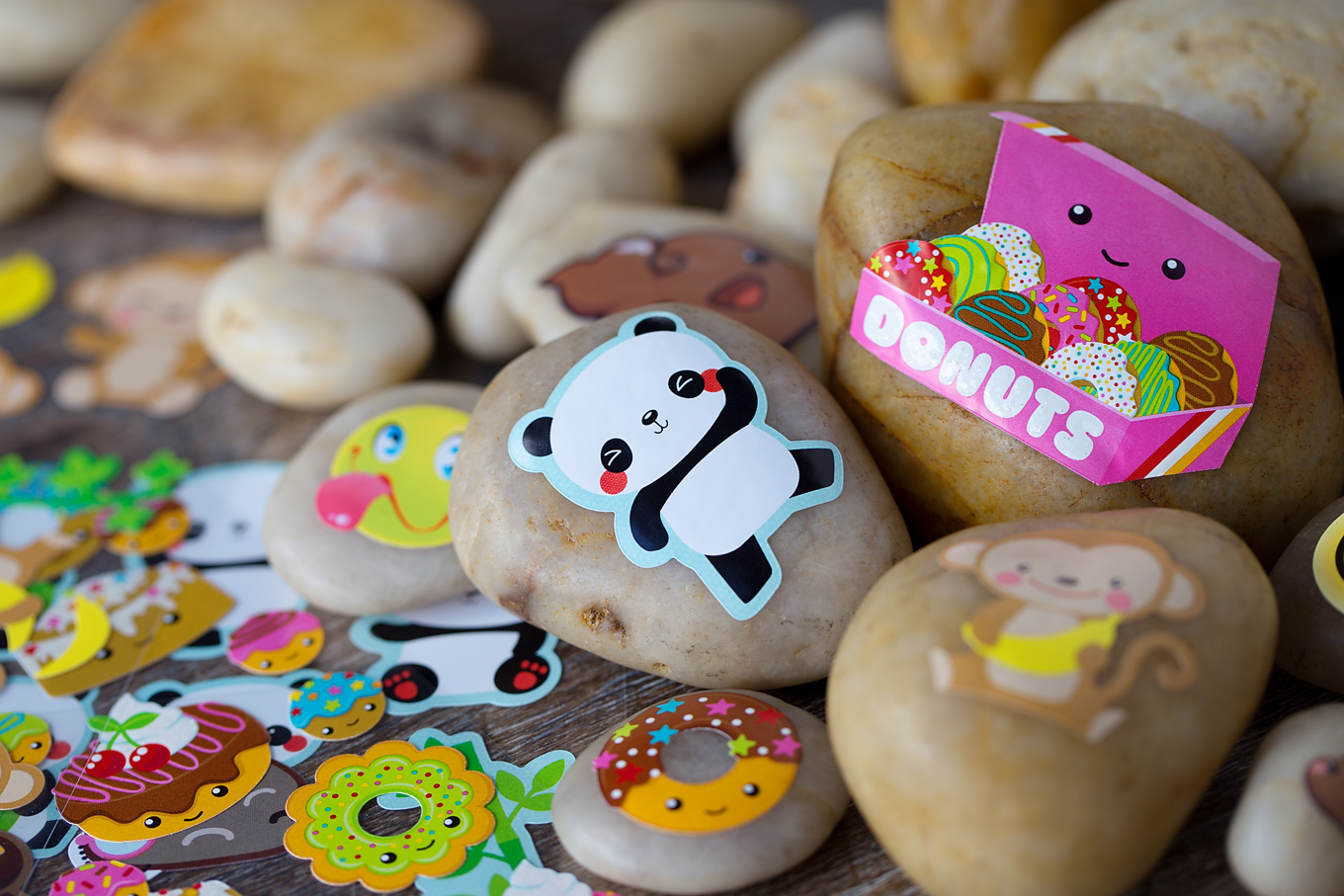 Easy and Fun Sticker Rocks for Kids