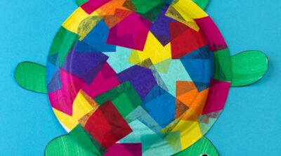 Tissue Paper Turtle Craft