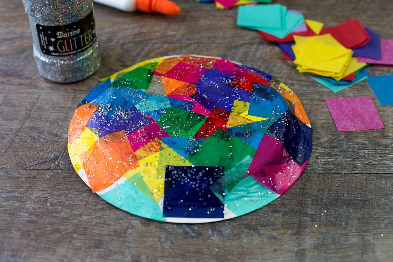 Paper Plate Turtle Craft In-Progress