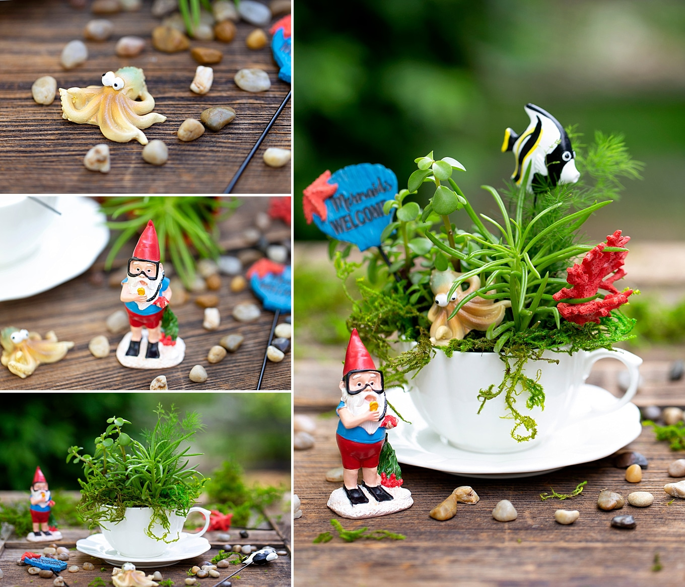 Collage Photo of Under the Sea Teacup Garden