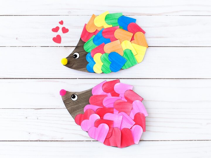 Valentine Hedgehog Craft
