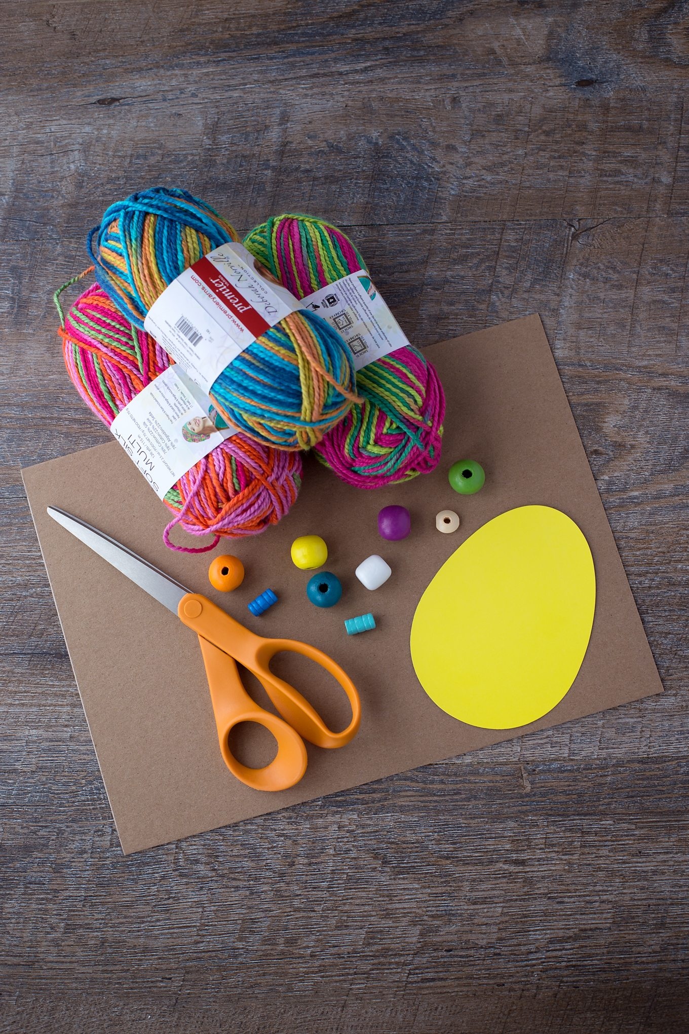 Supplies Needed for Yarn Wrapped Easter Egg Craft