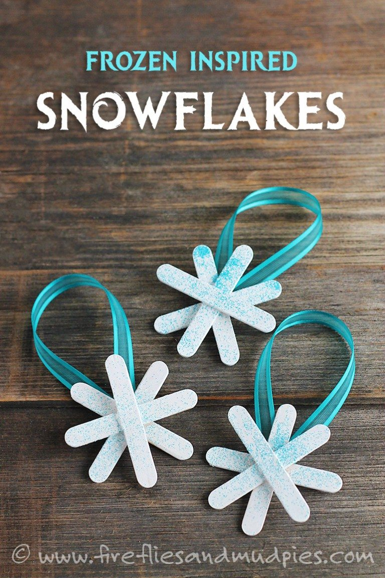 Frozen inspired snow flakes