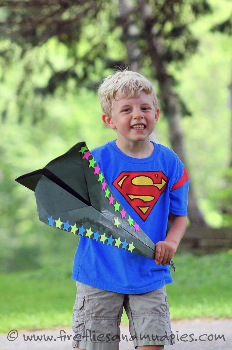 Summer Craft for Kids—GIANT paper airplanes! | Fireflies and Mud Pies