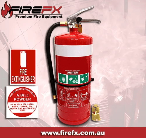 Map 90 Fire Extinguisher.9kg Abe Dry Powder Fire Extinguisher Abe Id Sign
