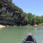canoeing on the Buffalo National Riiver, Arkansas