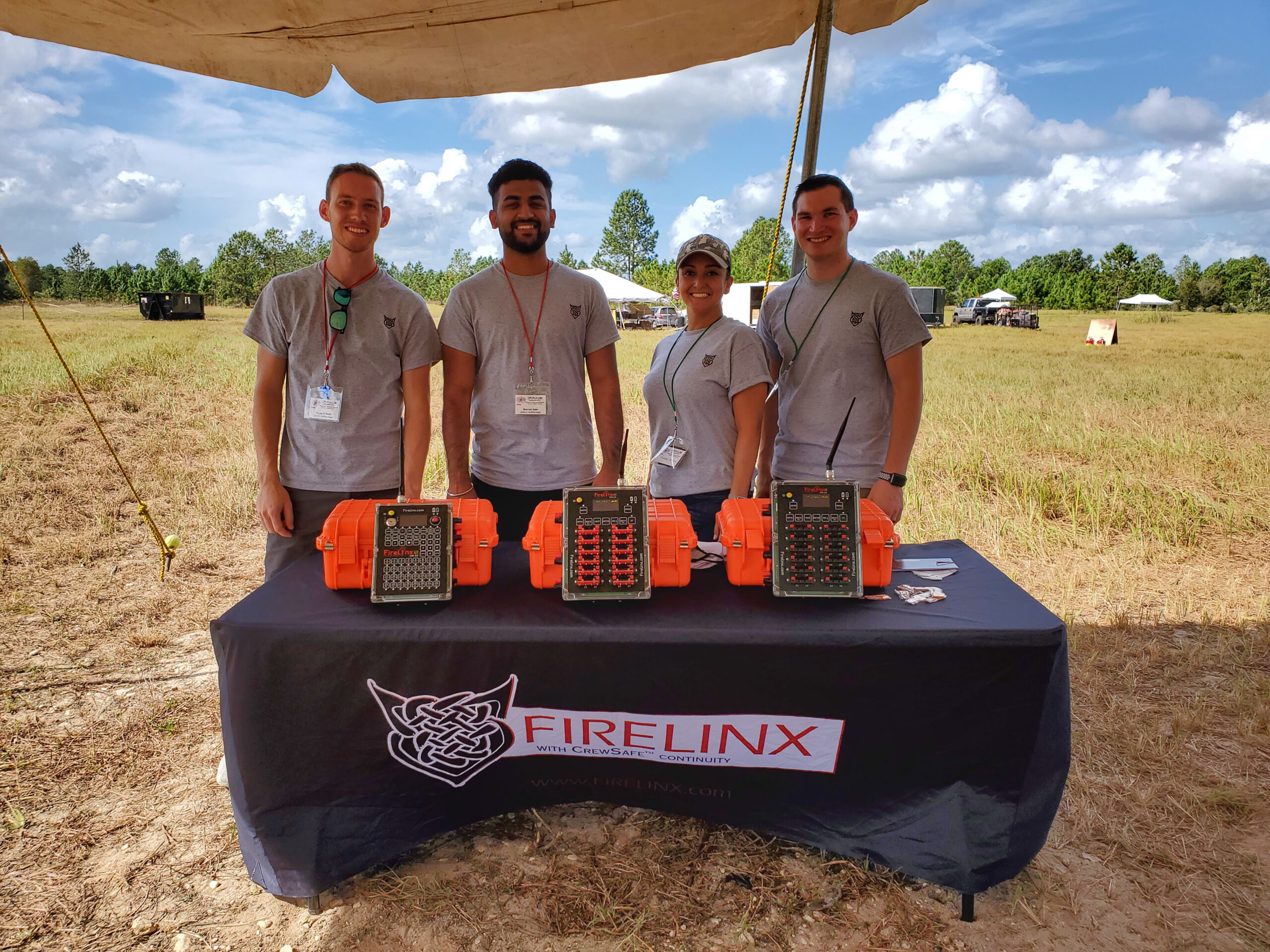 Firelinx Team at the Florida Pyrotechnics Arts Guild November 2020 event