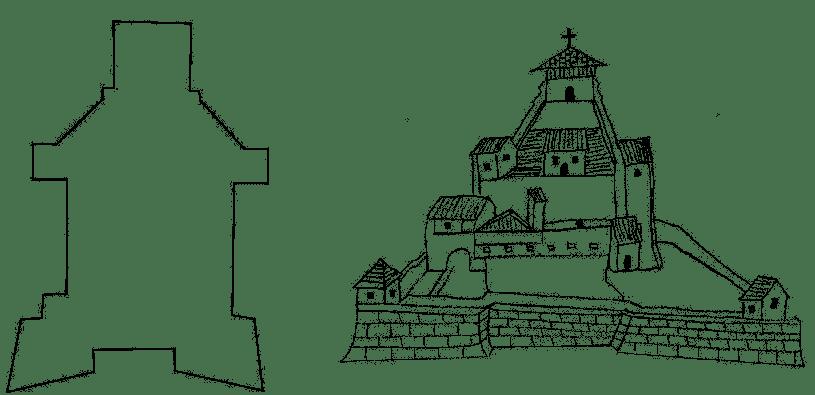 La Castillo de Santiago or La Gloria, based on 17th century eyewitness depictions.