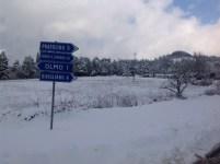 Neve sulle urne nella provincia fiorentina