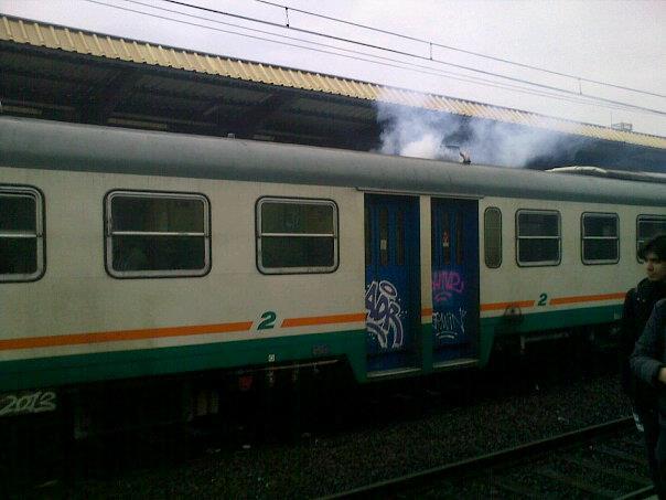 Fumo di kerosene sull treno