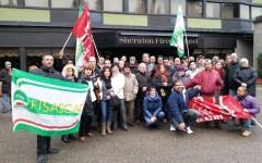 La rabbia dei lavoratori dello Sheraton in sciopero