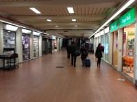 Il tratto del sottopasso della stazione Santa Maria Novella due anni dopo la vendita ai privati da parte del Comune di Firenze