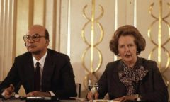 Margaret Thatcher con Bettino Craxi