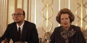 Margaret Thatcher con Bettino Craxi