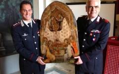 Ritrovato quadro di Santa Caterina, la Curia ringrazia i Carabinieri