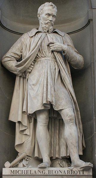 La statua di Michelangelo Buonarroti (Galleria degli Uffizi)