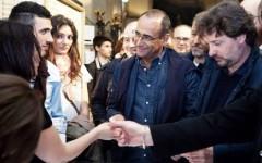 Leonardo Pieraccioni e Carlo Conti all'anteprima del film