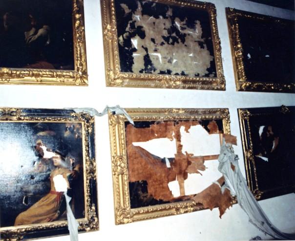 Oper e danneggiate della Galleria degli Uffizi