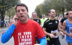 Beneficenza, all'asta un'ora di jogging con Renzi
