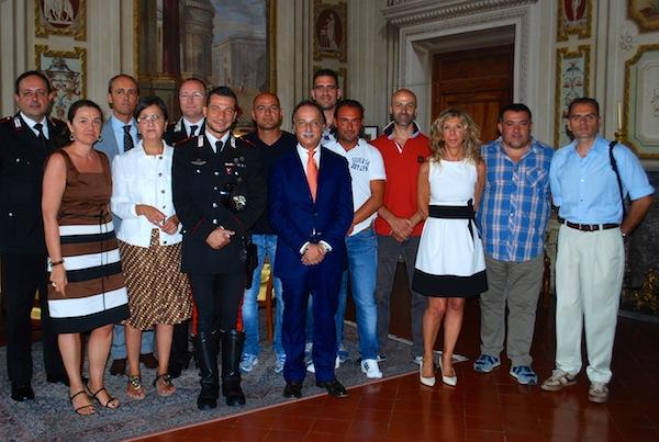 L'incontro di stamani del prefetto Varratta con polizia e carabinieri