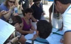 Protesta dei dipendenti della scuola della Toscana