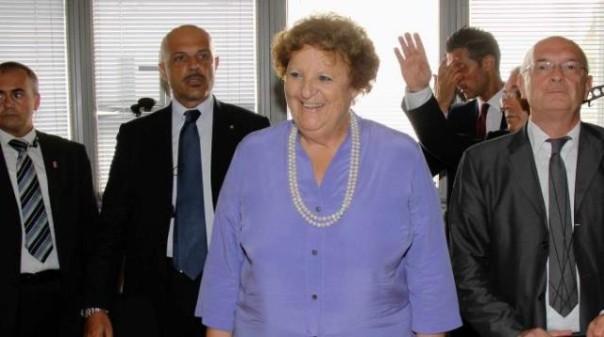 Il ministro Anna Maria Cancellieri al carcere fiorentino di Sollicciano