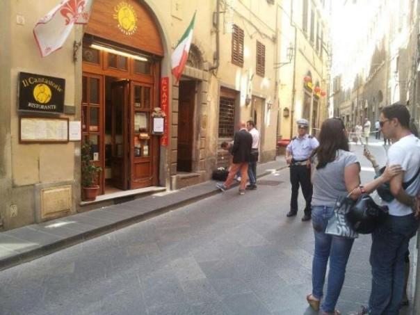 L'appartamento di via Condotta a Firenze dove è avvenuto l'omicidio
