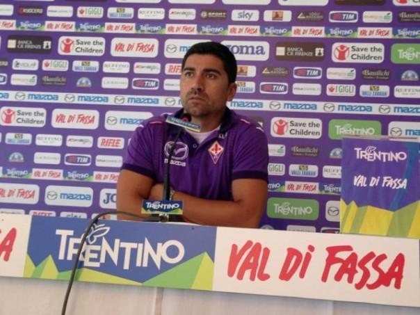 David Pizarro in conferenza stampa nel ritiro di Moena