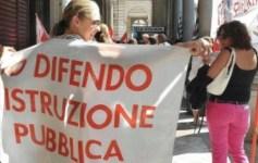 Una protesta per la scuola