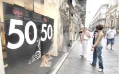 Saldi, in Toscana nelle prime due settimane calo delle vendite del 10%