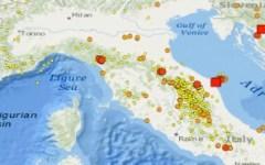 Terremoto, 2874 scosse in Italia nel mese di luglio