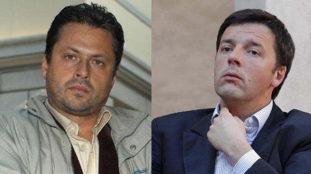 Claudio Fantoni e Matteo Renzi, sfida per il Comune