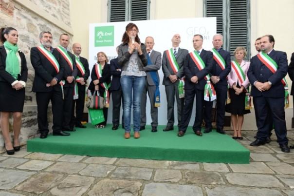 Inaugurazione del museo della geotermia di Larderello, l'assessore regionale Bramerini