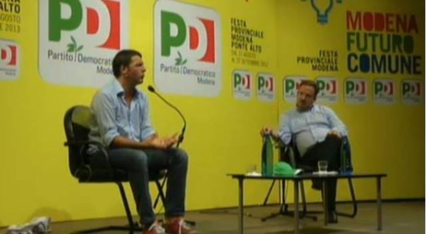 Matteo Renzi alla Festa democratica di Modena