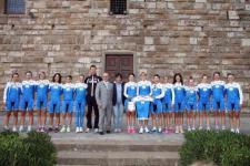 Mondiali di ciclismo, le azzurre in piazza Signoria