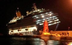 Isola del Giglio: mercoledì 13 gennaio cerimonia per il quarto anniversario del naufragio della Costa Concordia