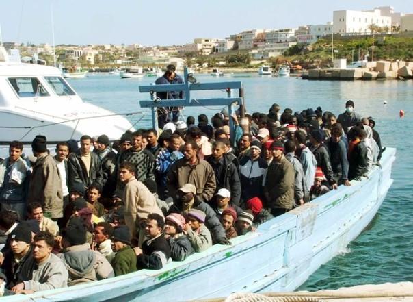 Un gruppo di migranti