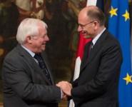 Letta a Siena parla di Europa e del piano per far crescere l'Italia