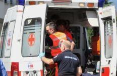 Un uomo si è procurato un trauma da schiacciamento con una profonda ferita