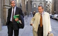 Alberto Formigli con il proprio avvocato Lucibello