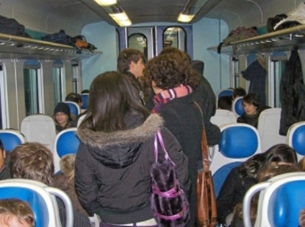 I pendolari sui treni toscani