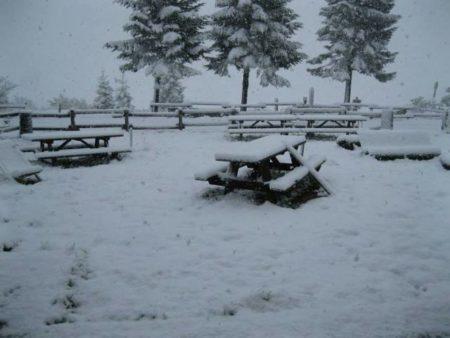 La neve caduta ad Arezzo